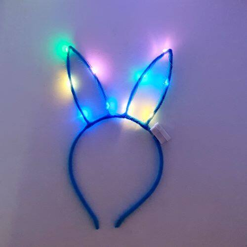 READY STOCK - RABBIT Ear FLASHING LED Hairband