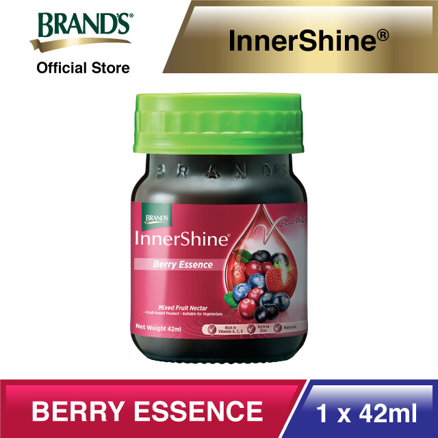 BRAND'S InnerShine Berry Essence 6's (42ml) x 6 packs - Total 36 bottles [Skin Supplement][Antioxidants][Vitamin A][Vitamin C][Zinc][Vitamin E][High Anthocyanins][Radiant Skin][Anti-Aging][Controls Acne]