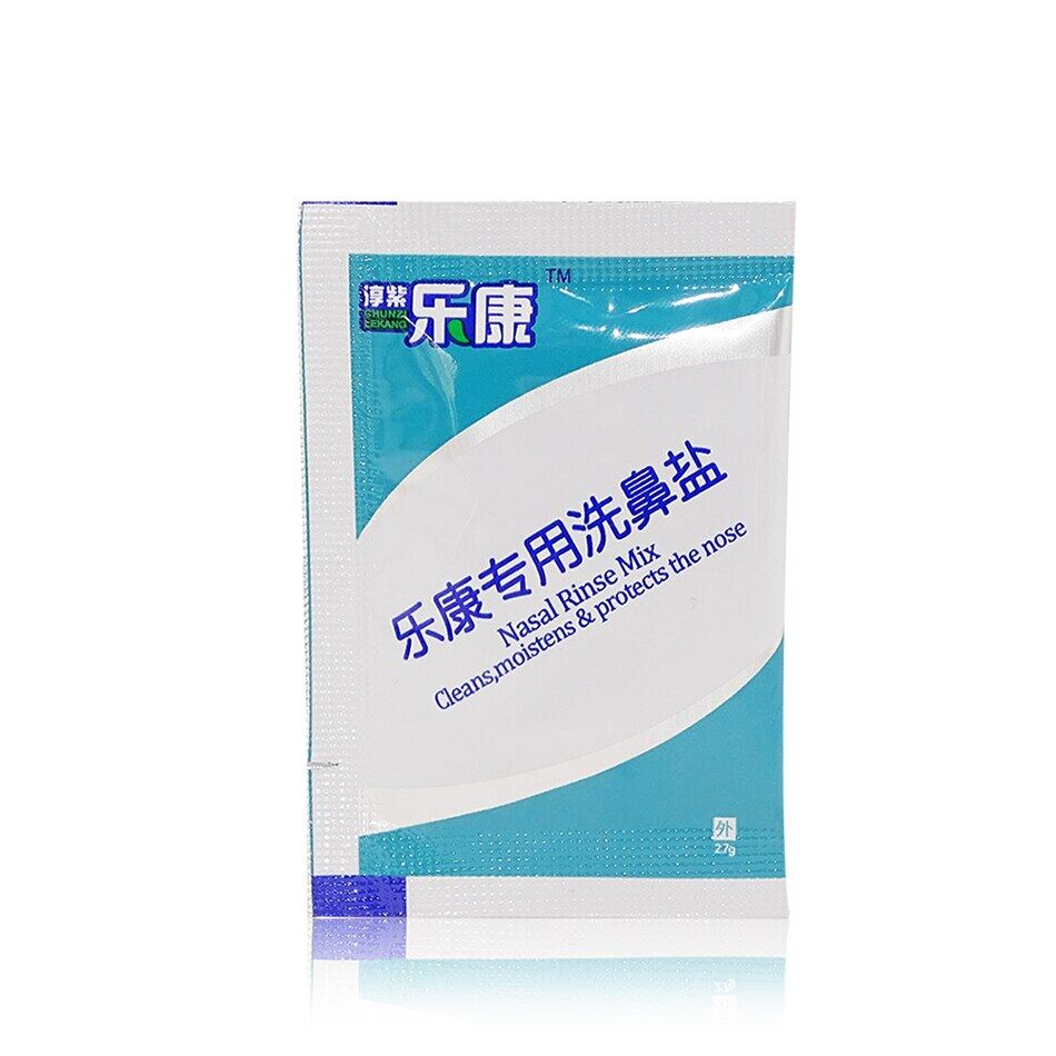 2.7g 30 Packs Nasal Irrigation Salt Nasal Rinse Mix Wash Nasal Salt For 300/500ml Cleans Moistens & Protects The Nose