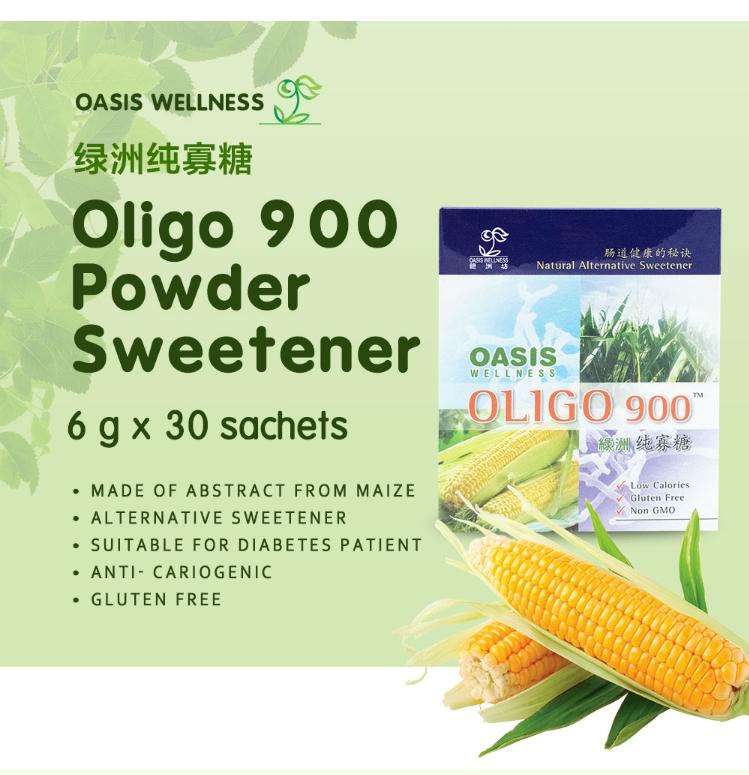 OASIS Oligo 900 Powder (6g x 30 sachets) - Natural Alternative Sweetener, Low Calories, Gluten Free, Non GMO -   (6 x 30)