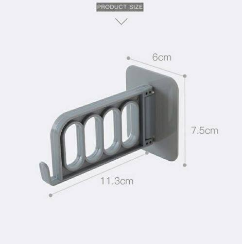 Multi Function Wall Hanger 4 Holes Strong Self-Adhesive Wall Hanging Hook