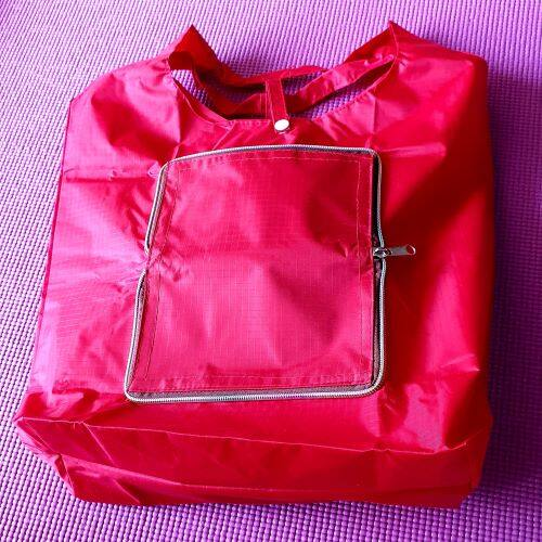 Ready Stock - Nylon Foldable Traveling Shopping Recycle Bag