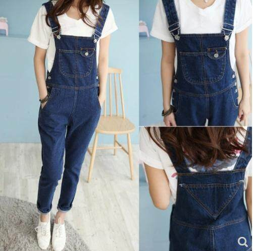 READY STOCK Denim Strap Jumpsuit