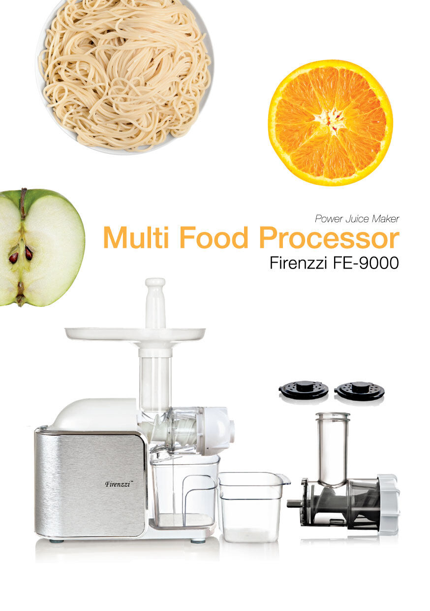 Firenzzi FE-9000 Multi-Function Food Processor & Slow Juicer (Motor 10 Years Warranty)
