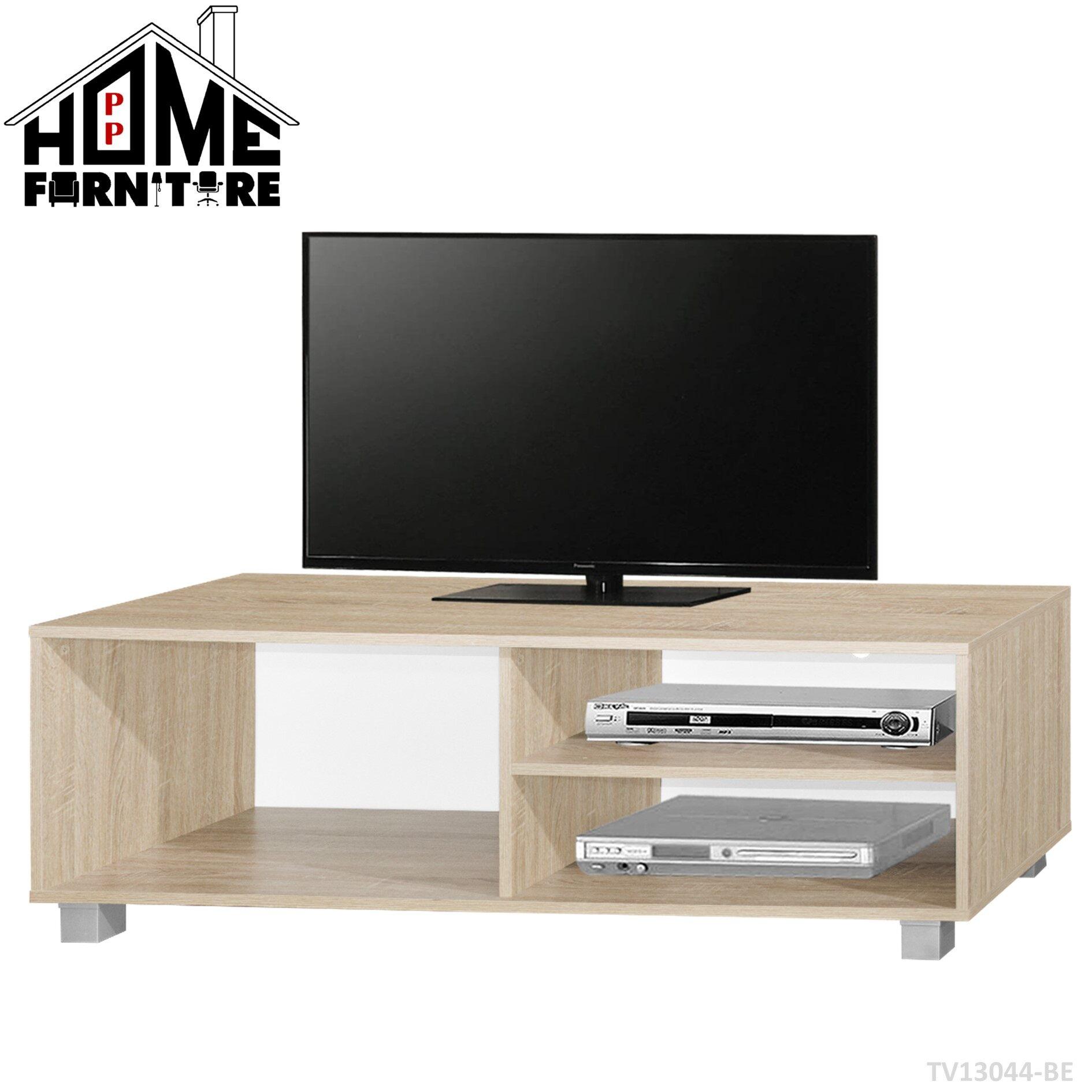 PP HOME TV cabinet modern set/Television cabinet/TV console/TV rack/TV table media storage/TV storage organizer/ Almari TV/Kabinet TV/Rak TV/Meja TV 电视柜/电视橱/电视桌TV13044-BE