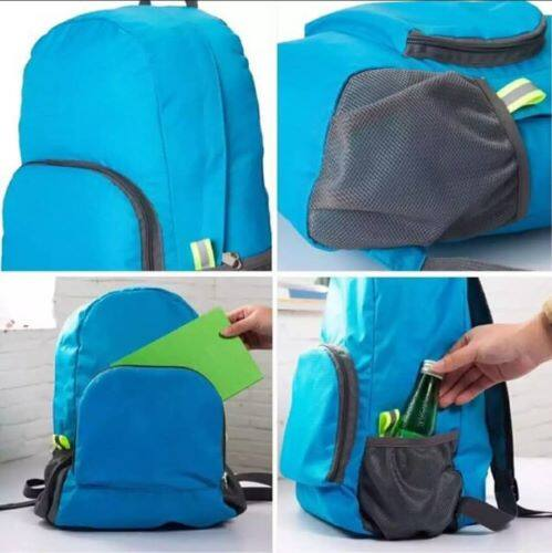Ready Stock - Foldable Back Pack Bag Can Become Hand Bag