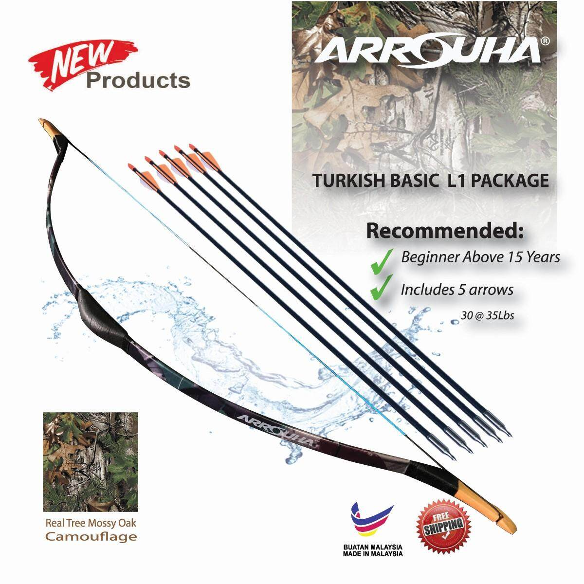 Arrouha Archery Training Turkish Package 30-35lbs Traditional