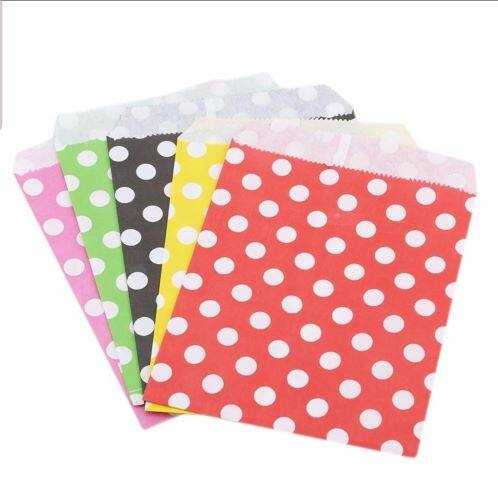 Ready Stock - Wave and Polka Dot Paper Bag Birthday Weeding Party