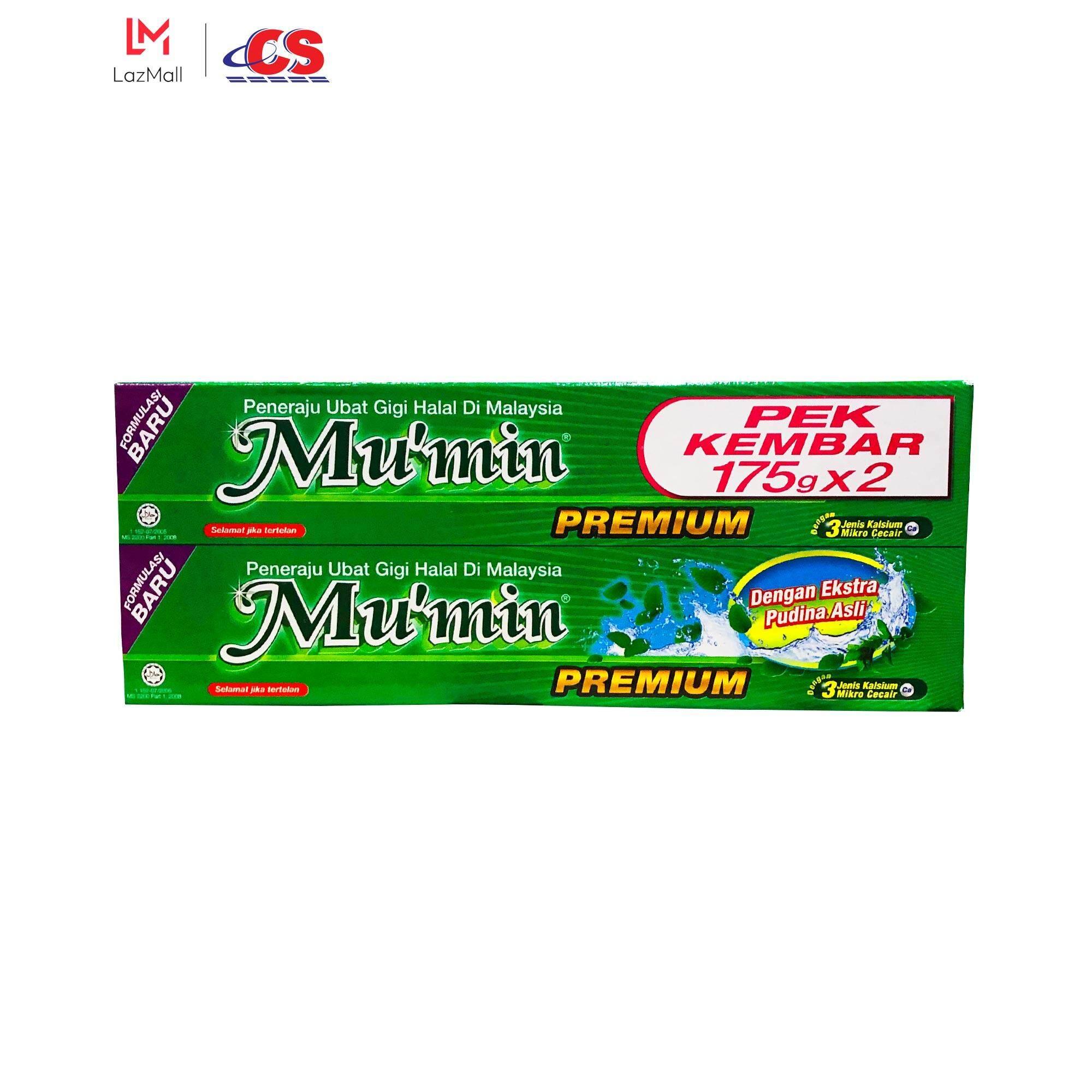 MU'MIN Toothpaste Pudina Twin Pack (2s x 175g)
