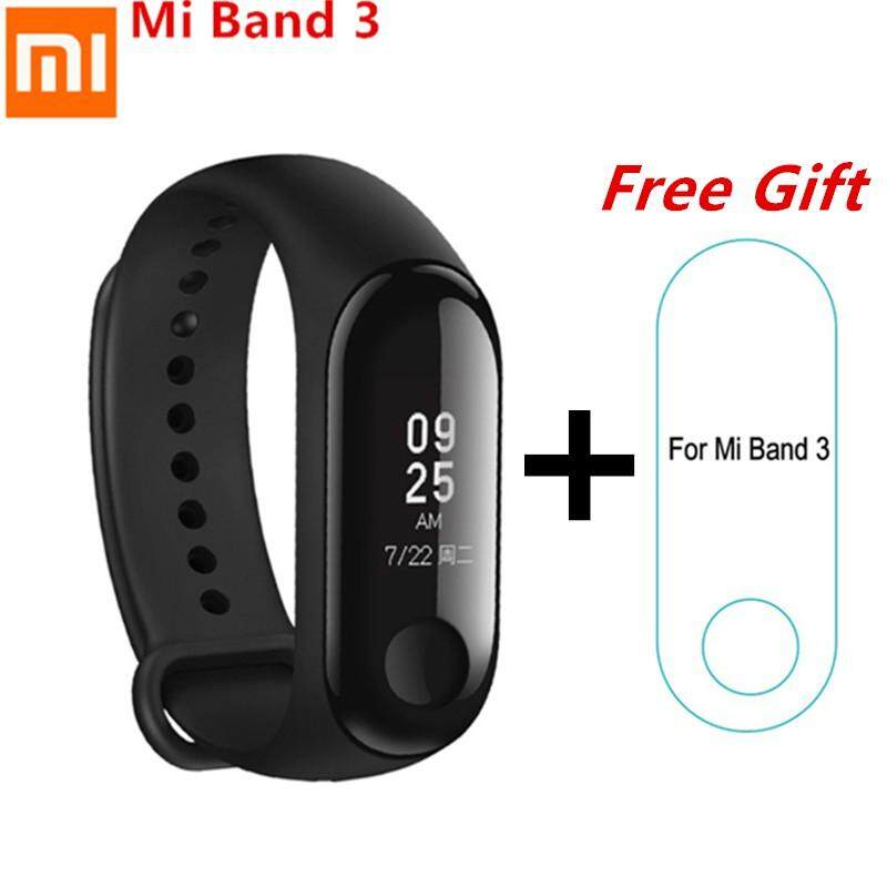 ??FREE GIFTS!  ?? Xiaomi Mi Band 3 Touch Screen OLED Smart Wristband 0.78  Waterproof (BLACK) - Xiao Mi MiBand 3 Smartwatch Heart Rate Tracker Smart Wear mi 3 dark blue+sp no free strap