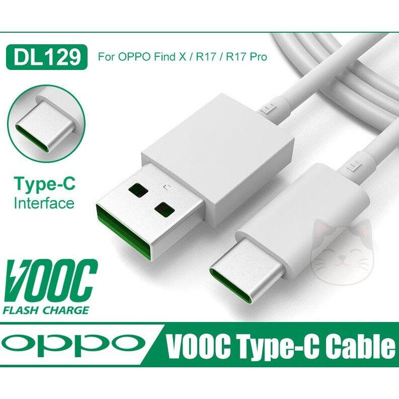 Original Oppo VOOC Fast Charging Type C Cable for Charge and Data Sync