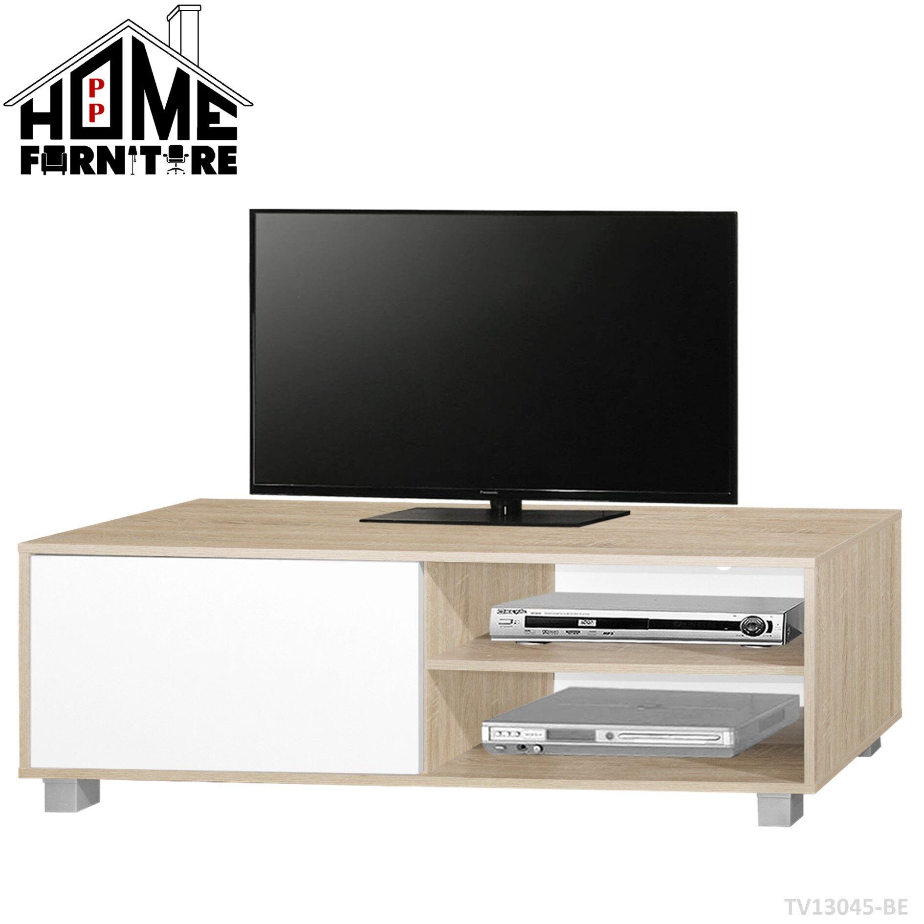 PP HOME TV cabinet modern set with door/Television cabinet/TV console/TV rack/TV table media storage/TV storage organizer/ Almari TV/Kabinet TV/Rak TV/Meja TV 电视柜/电视橱/电视桌TV13045-BE