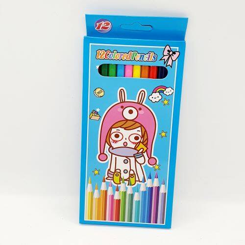 Ready Stock - 17.5 cm Long 12 pcs Color Pencil
