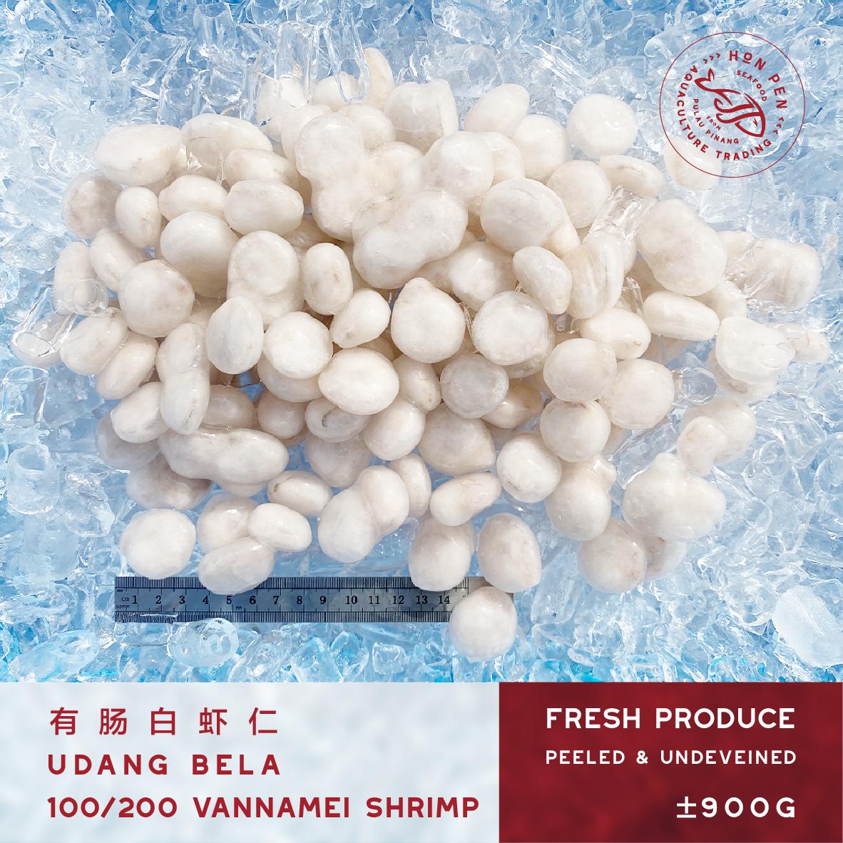 VANNAMEI SHRIMP 100/200 有肠白虾仁 UDANG BELA (Peeled & Undeveined) ±900g