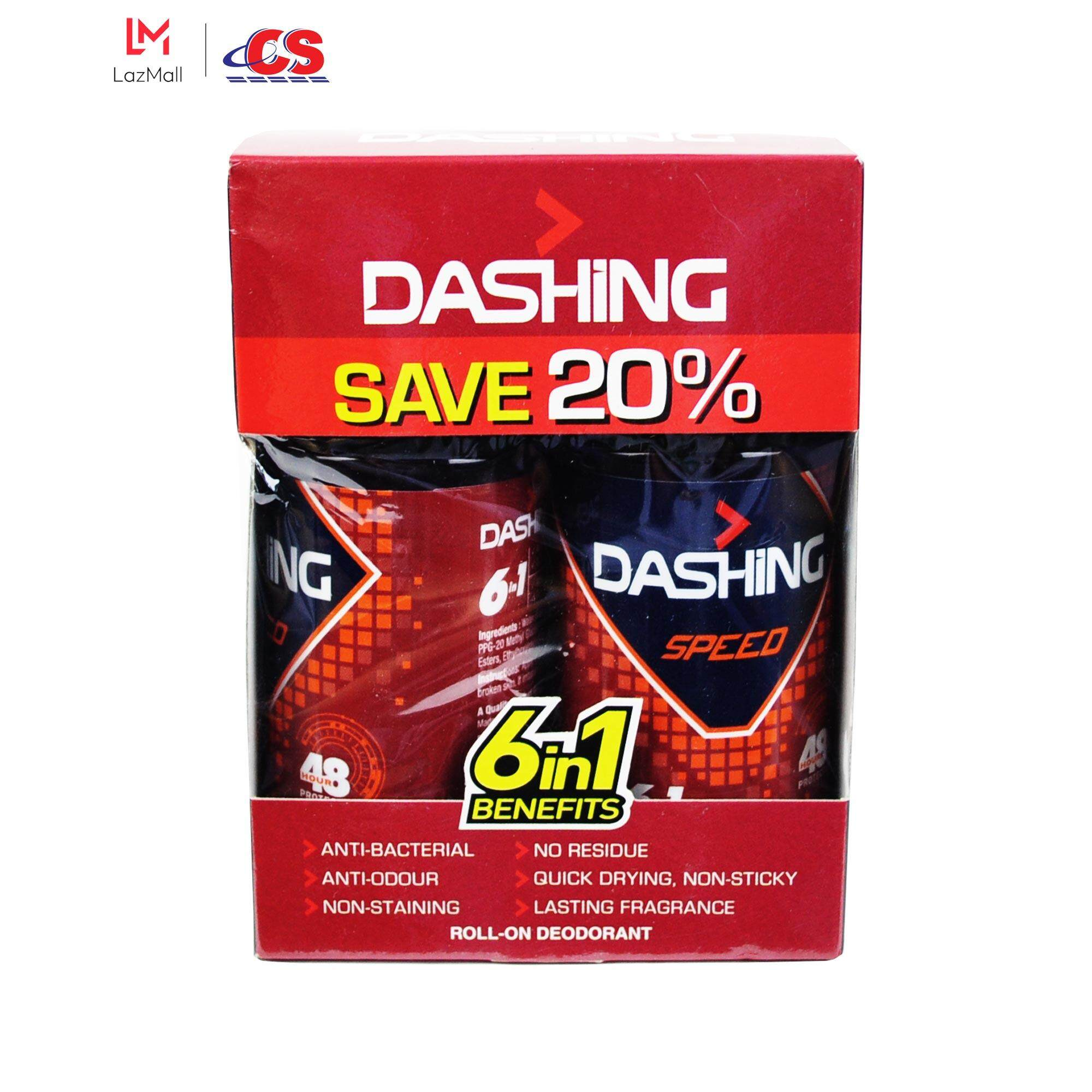 DASHING Roll On Speed Twin Pack 2x50ml