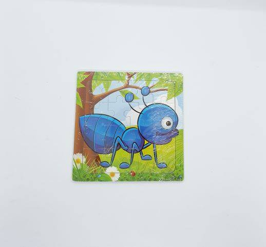 READY STOCK - 16 Pcs Kids Learning Wooden Puzzle Insect