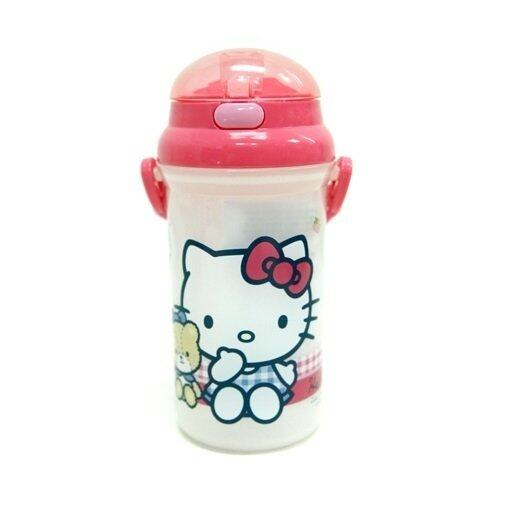 Sanrio Hello Kitty 500ML Water Bottle - Light Red Colour