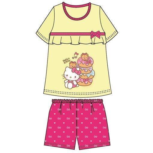 Sanrio Hello Kitty Adult Ladies Homewear 100% Cotton Free Size - Yellow Colour