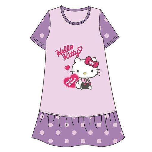 Sanrio Hello Kitty Love Adult Ladies Dress 100% Cotton Free Size - Purple Colour