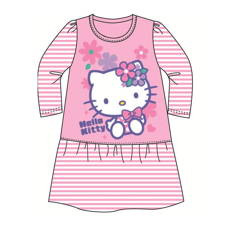 Sanrio Hello Kitty Pyjamas Dress 100% Cotton 4yrs - 6yrs - Light Pink Colour