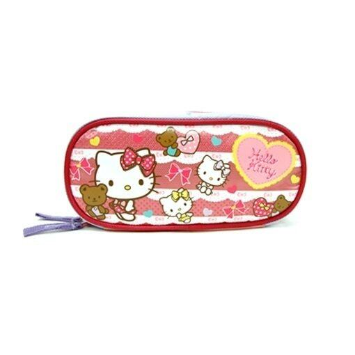 Sanrio Hello Kitty Square Pencil Bag - Red And Blue Colour