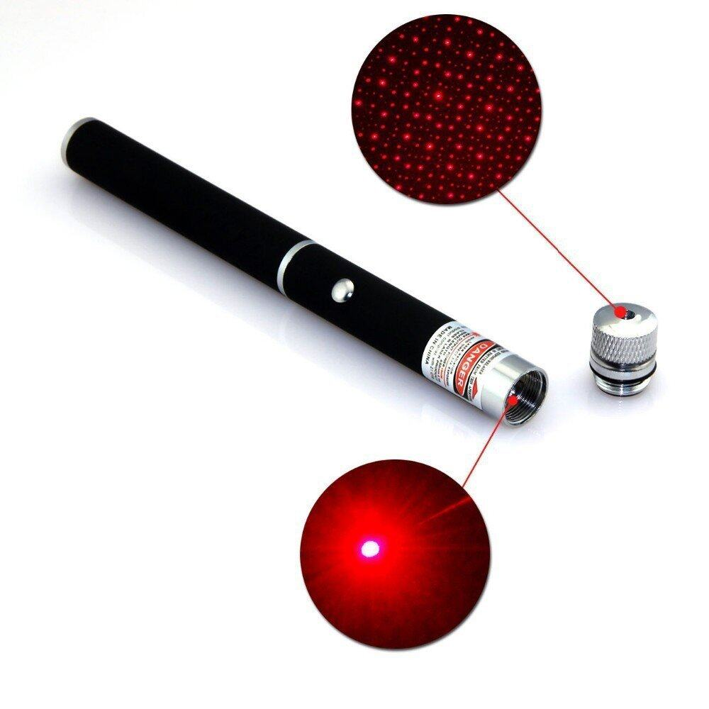 Star Cap High Power Laser Pointer Pen 2in1 5mw Powerful Red Laser (2AAA Batteries Included)