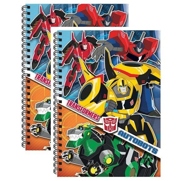 Transformers A5 Wire Note Book Set - Blue And Orange Colour