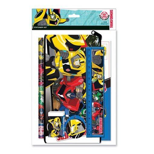Transformers Pencil Case Stationery Set - Blue Colour