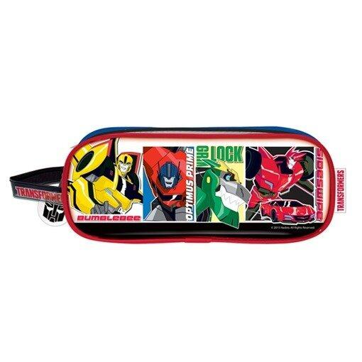 Transformers Square Pencil Bag Set - Red And Black Colour