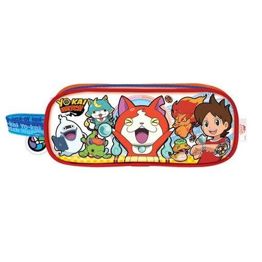Yo-Kai Watch Square Pencil Bag Set - Red And Blue Colour