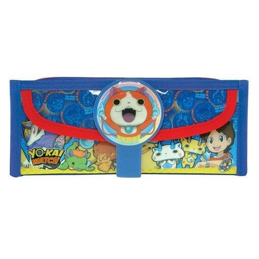 Yo-Kai Watch Square Pencil Bag With Pocket - Blue Colour