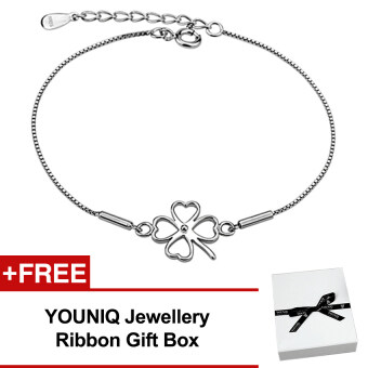 YOUNIQ Lucky Clover 925 Sterling Silver Bracelet