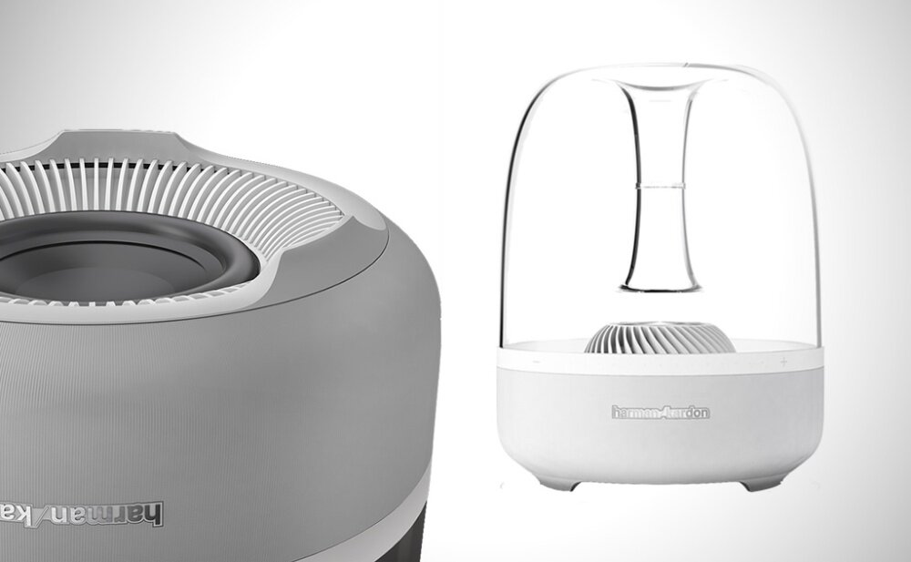 harman kardon aura speaker. the aura stands apart in a world of boring and similar-sounding speakers as harman kardon wireless home speaker (white) clearly demonstrates that n