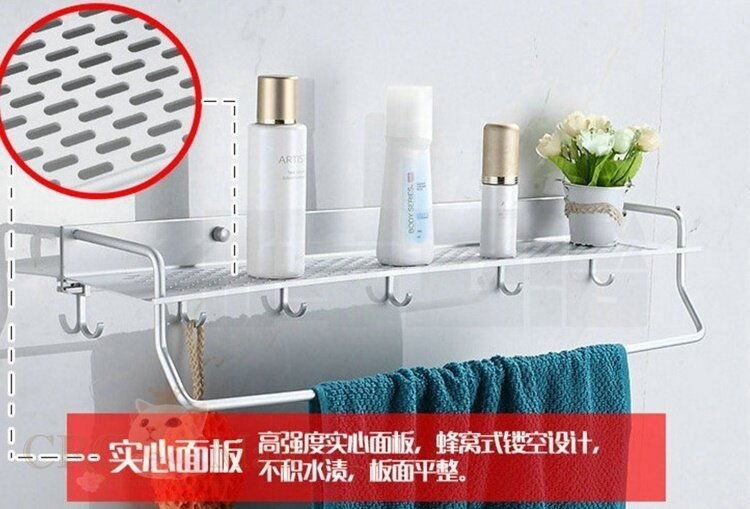 Space aluminium towel hanging rack bathroom kitchen for Bathroom accessories lazada
