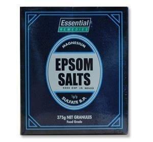 ESSENTIEL EPSOM SALTS 375G GRANULES FOOD GRADE X 2 packs