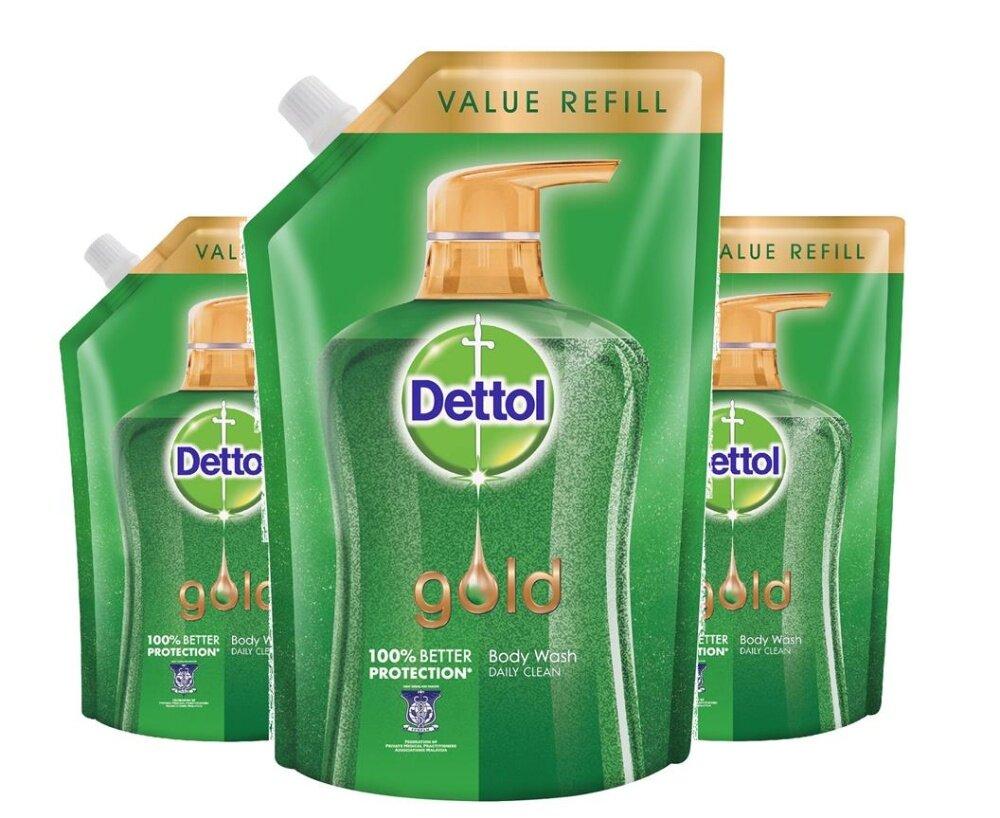Dettol Gold Shower Gel Daily Clean Gel 950ml X 3 packs