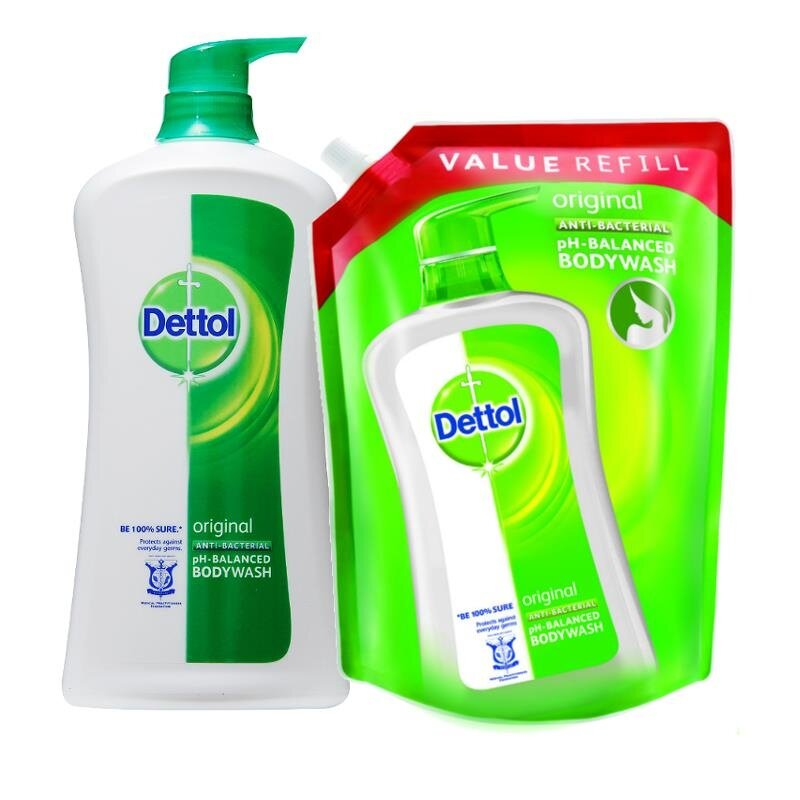 Dettol Shower Gel Anti-Bacterial Original 950ml X 2 + Refill 900ml X 2