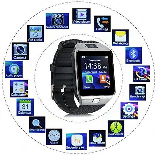 Dz09 Smart Watch Bluetooth Touch Screen For Android And Ios 8gb