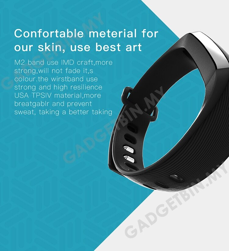 M2 Blood Pressure Heart Rate Monitor Bluetooth Smart Watch
