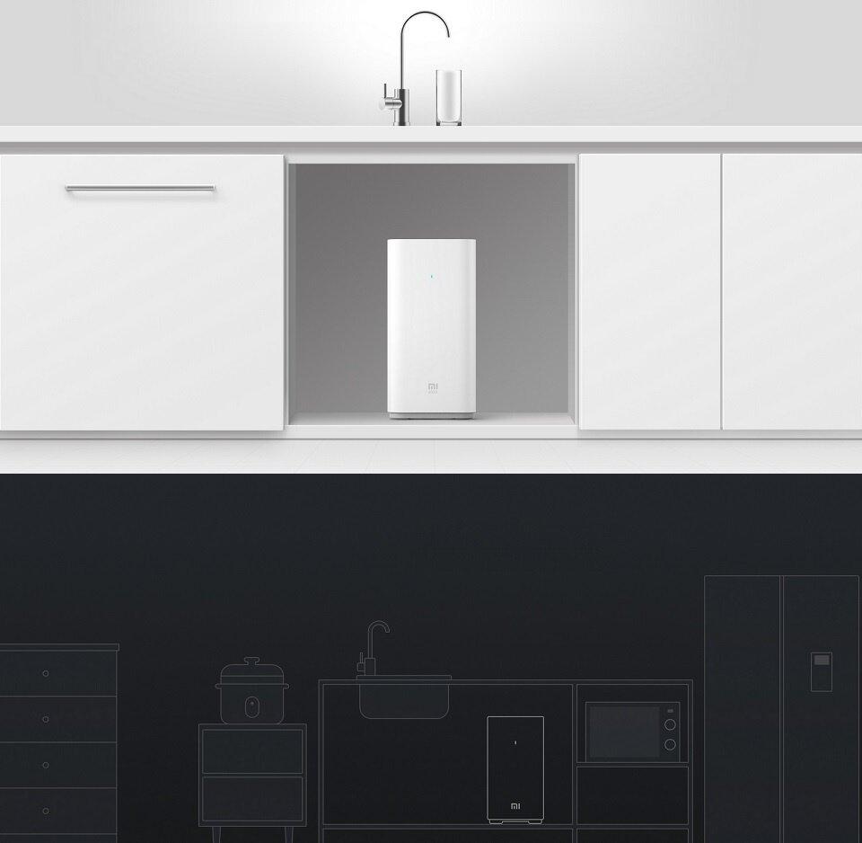 IX] Xiaomi Mi Kitchen Type Water Purifier 2 (White) Reverse Osmosis ...
