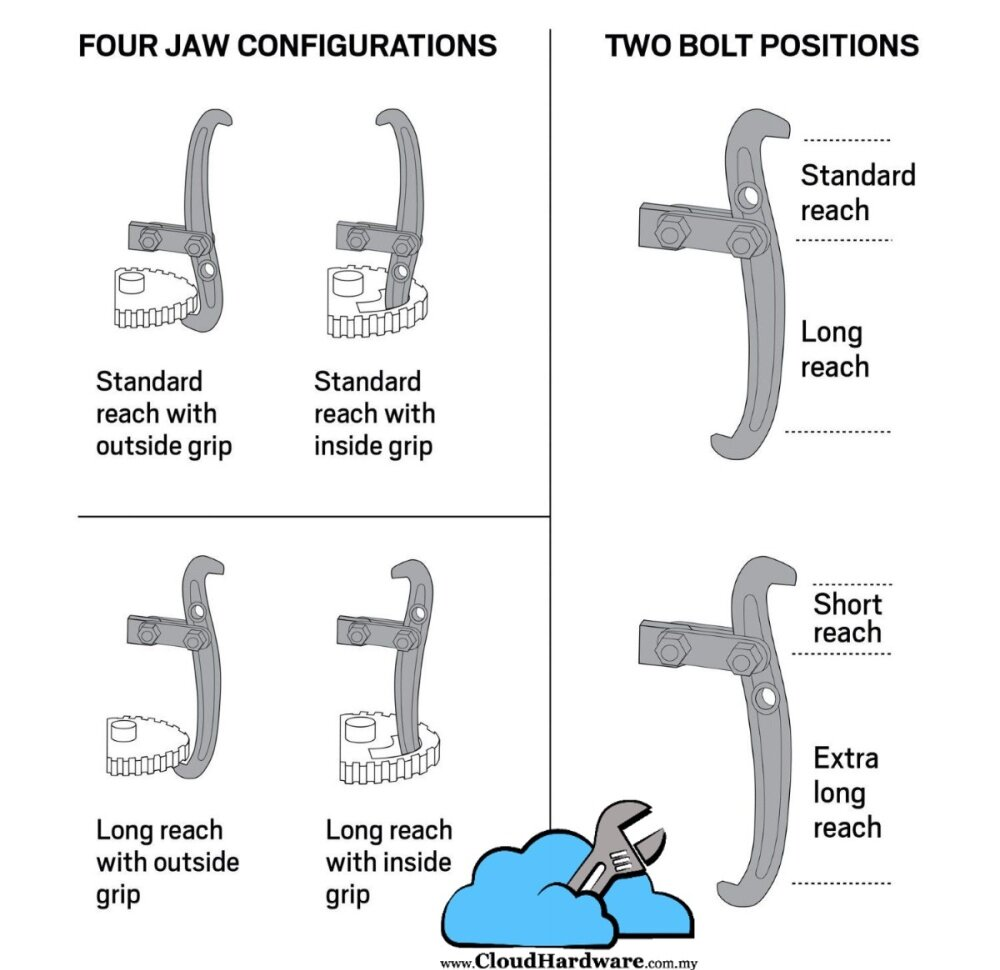 Gear Puller Malaysia : Maxtop quot gear puller jaw pulley flywheel bearing