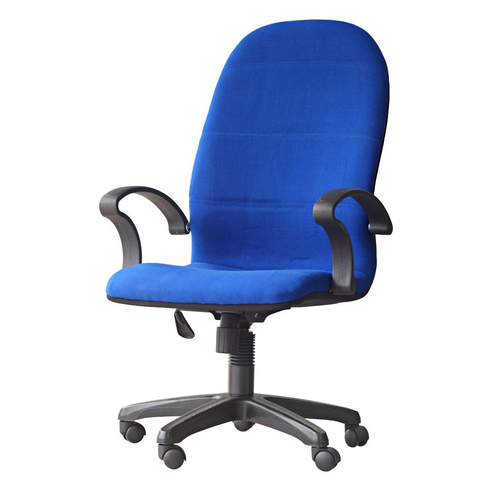 3v ergonomic high back office chair ex7091l blue lazada for Blue office chair