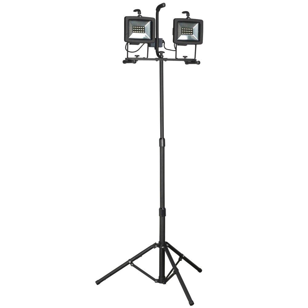 Image result for Sealey LED130TD 2 x 130 LED Telescopic Floodlight (230V)