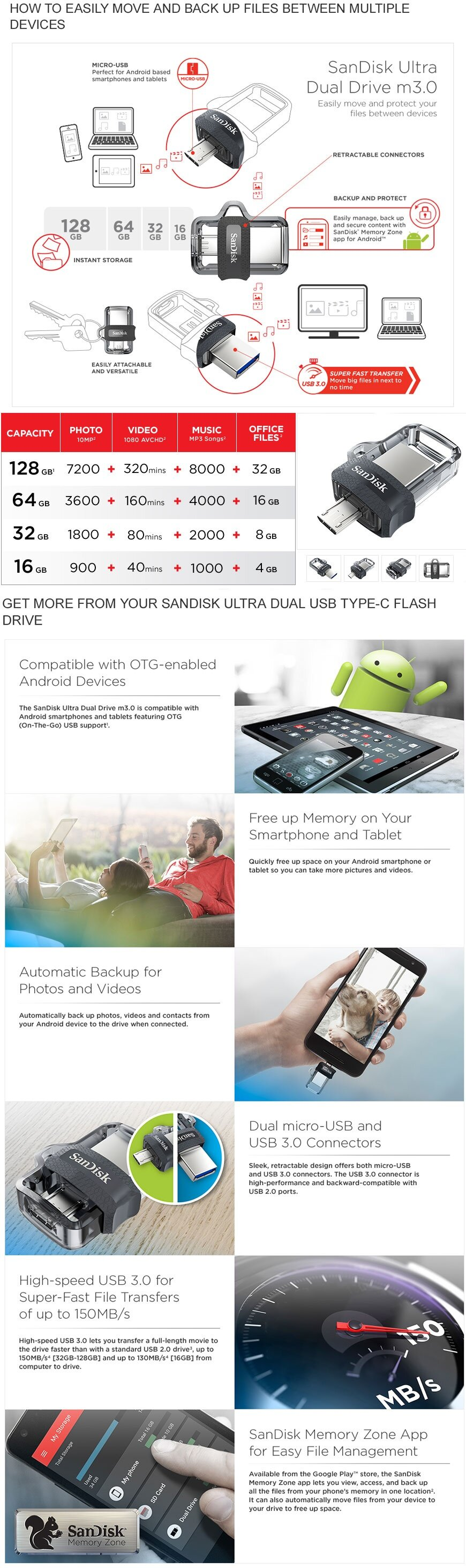 Sandisk Ultra Dual Drive 32gb M30 Otg Usb Flash For Android 16gb 30 100 Original Getting More From Your Device Compatible With Enabled Devices The