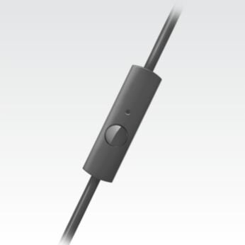 In-line mic and pick up botton for easy handsfree calls