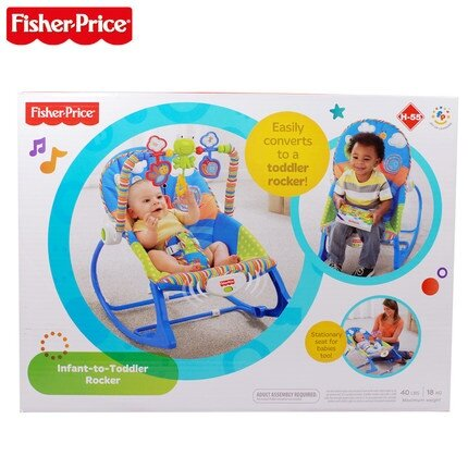 Baby To Toddler Rocker Chair Froggie Rabbit Fisher Price