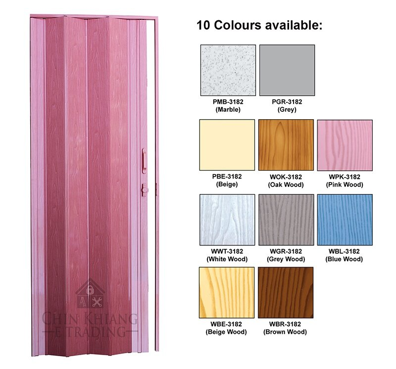 Terrific Aman Pbe 3182 Deluxe Pvc Bathroom Kitchen Folding Door Uv Surface Beige Beutiful Home Inspiration Ommitmahrainfo