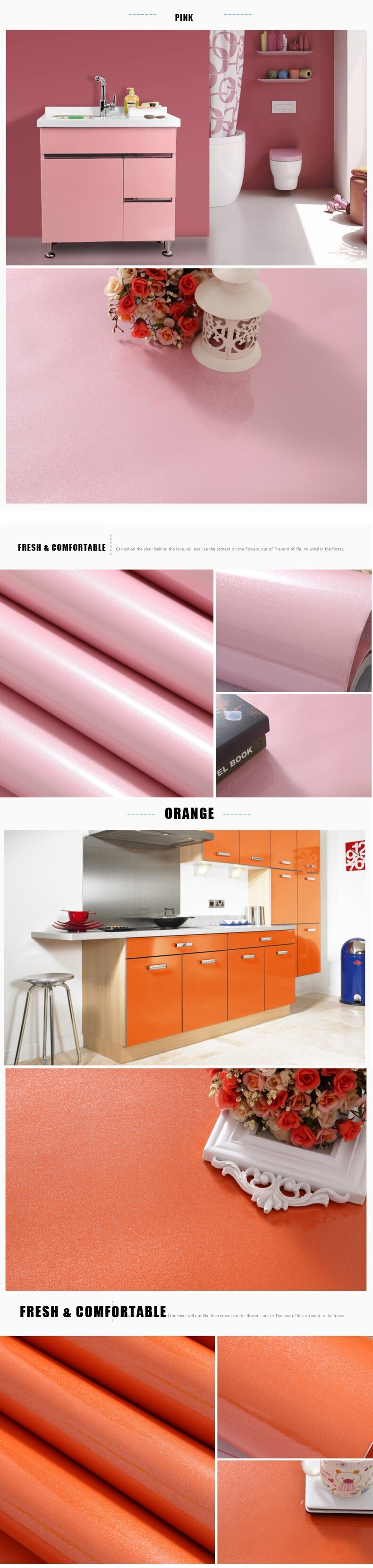 1 Roll 16.4ft Furniture Renovation Decal Pearlized Stoving Varnish  Refurbishment Stickers Wallpaper