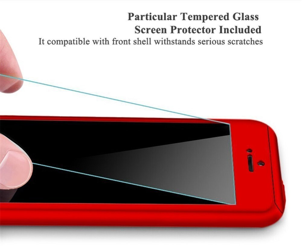 Specifications of iPhone 5 / 5s / SE 360 Full Body Protection Case + Tempered Glass - Black