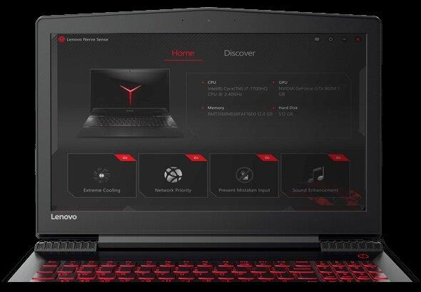 Lenovo Legion Y520- i7-7700HQ/8GB DDR4/128GB SSD/4GB GTX1050TI/Win 10